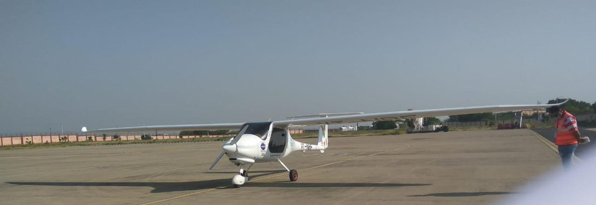 A plane flies from Bhuj to Mumbai to mark anniversary of first commercial flight of India