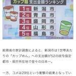 米ではない!?カップ麺支出金額ランキング!