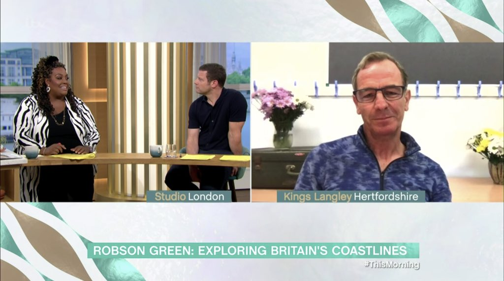 """""""If we look after the sea and the ocean then it will look after us"""" - #RobsonGreen joined us on @thismorning to talk about his latest TV catch: Robson Green: Coastal Fishing and revealed all about sustainability and @tombrittney and @samfendermusic's fishy guilty pleasures ❤️🐟"""