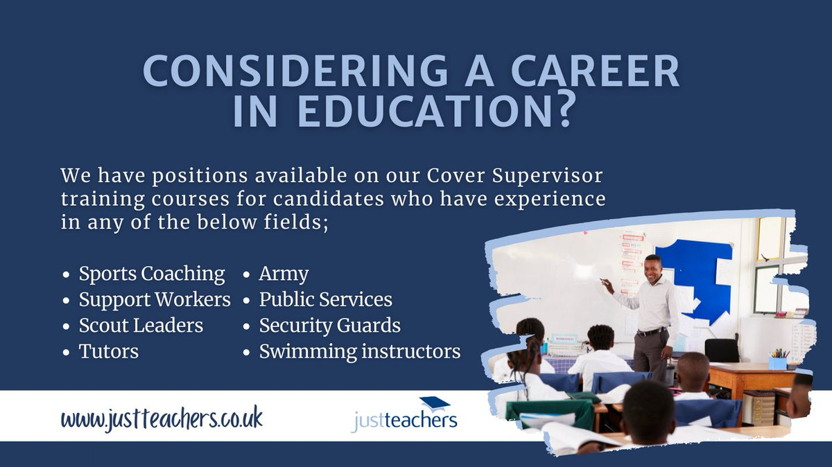 test Twitter Media - Interested in becoming a Cover Supervisor? Previous experience is not essential, as full training can be provided by justteachers.  For more info visit contact your local branch https://t.co/dVNCKSrKuv   #WeAreHiring #EducationRecruitment #School #justteachers https://t.co/zWO50mz4df