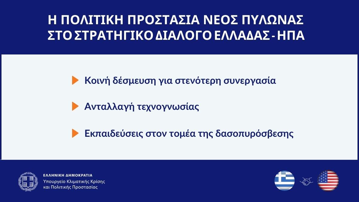 📌 H συνεργασία 🇬🇷🤝🇺🇸 σε θέματα Πολιτικής Προστασίας για 1η φορά στο Στρατηγικό Διάλογο Ελλάδας-ΗΠΑ 🔸 Έμφαση σε πρόληψη, ετοιμότητα, ανθεκτικότητα 🔸 Κοινή δέσμευση για στενότερη συνεργασία 🔸 Ανταλλαγή τεχνογνωσίας 🔸 Εκπαίδευση δασοπυροσβεστών 🔗bit.ly/3lLuB5H