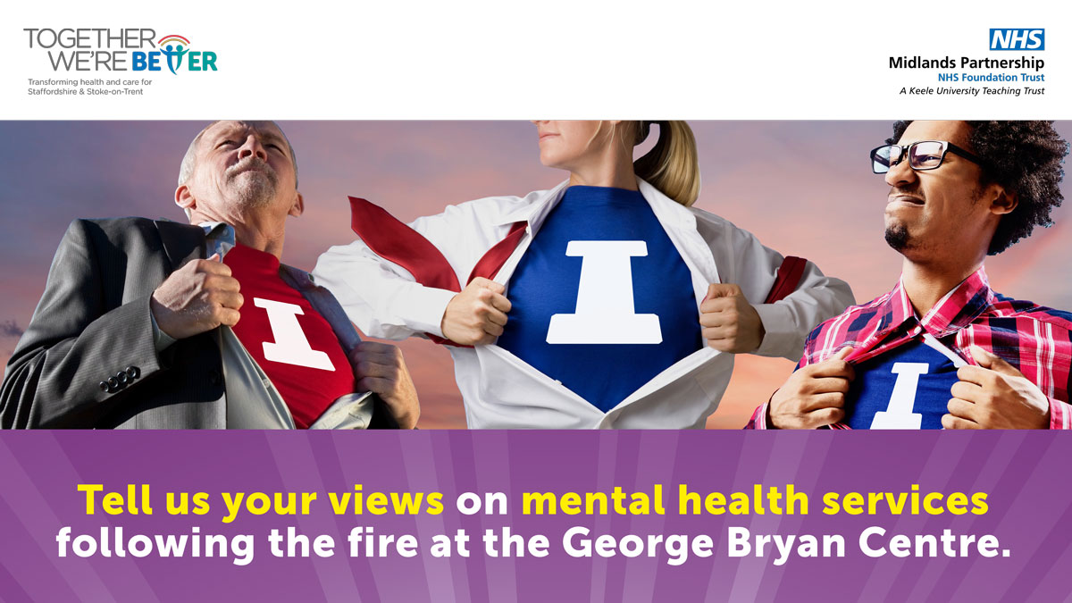 Do you work in or with local mental health services? We're looking at how we can provide a long-term solution for the services that were provided from the George Bryan Centre. Share your views with us: gettinginvolved.mpft.nhs.uk/george-bryan-c…