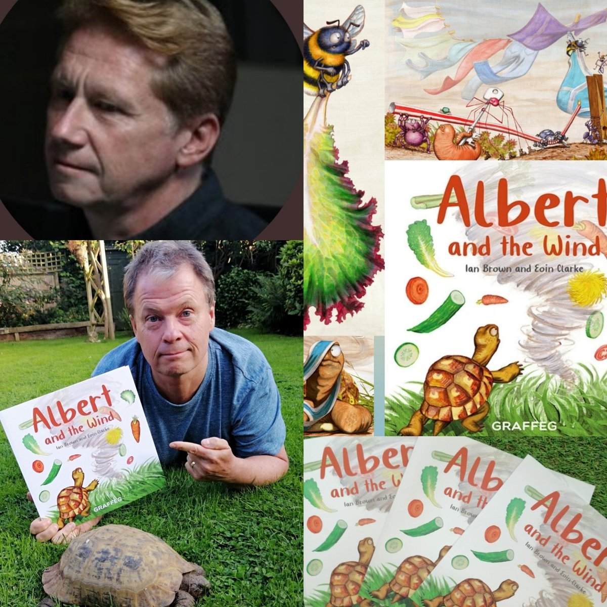 Smashing chat with @SimonParkinTV @bbcsomerset - #thankyou - all about #ALBERTthetortoise and the launch of NEW #picturebook ALBERT AND THE WIND - more at https://t.co/Olqfb5dRZA   #tortoise #radio #interview #somerset #turtle #childrensbooks #illustration #newbook https://t.co/UI982FQKeW