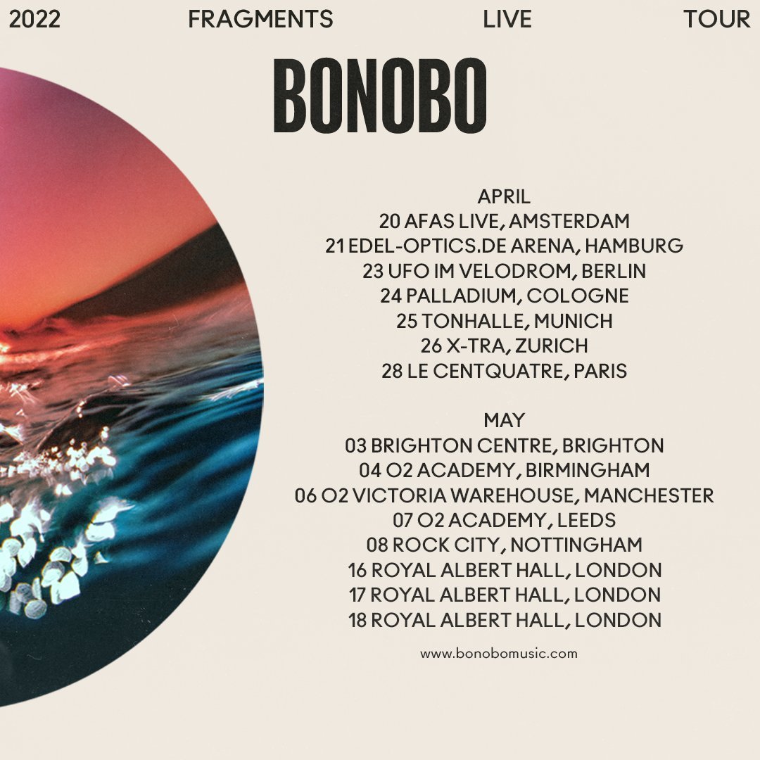 Starting work on the new live show. UK/EU live shows on sale now. Tickets at bonobomusic.com/tour.