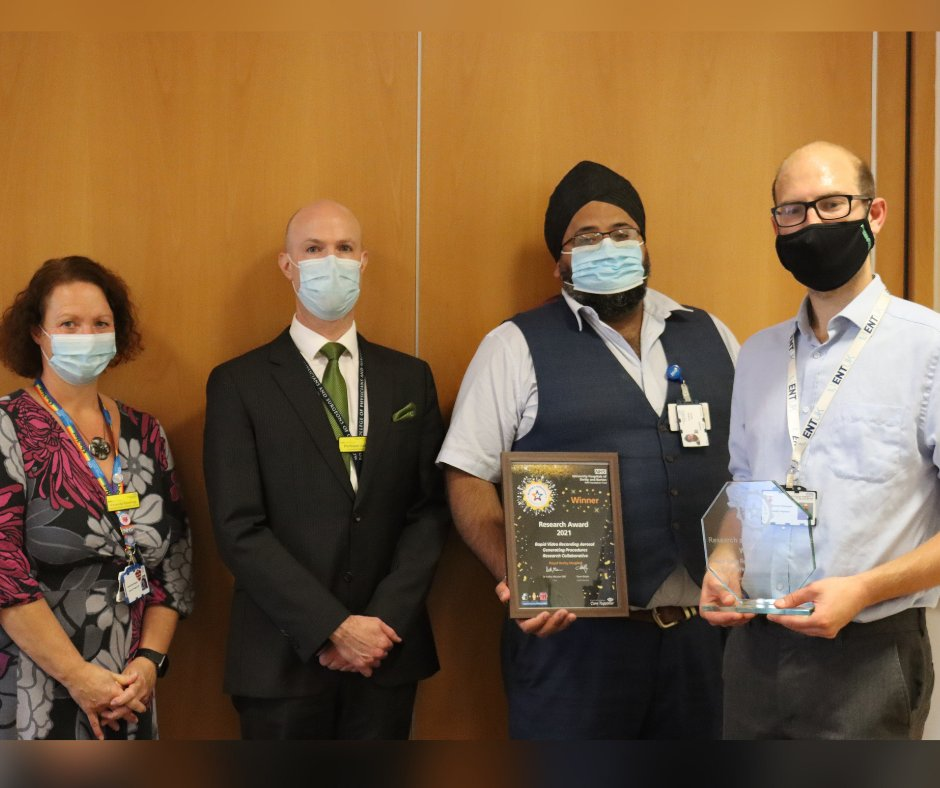 """""""The work that you and your colleagues have done is quite remarkable.' 🙌 The team behind a study in partnership with @RollsRoyce to improve safety in operating theatres have been presented with their annual Making a Difference Award 🌟 Find out more ➡️ bit.ly/2YQTeVi"""