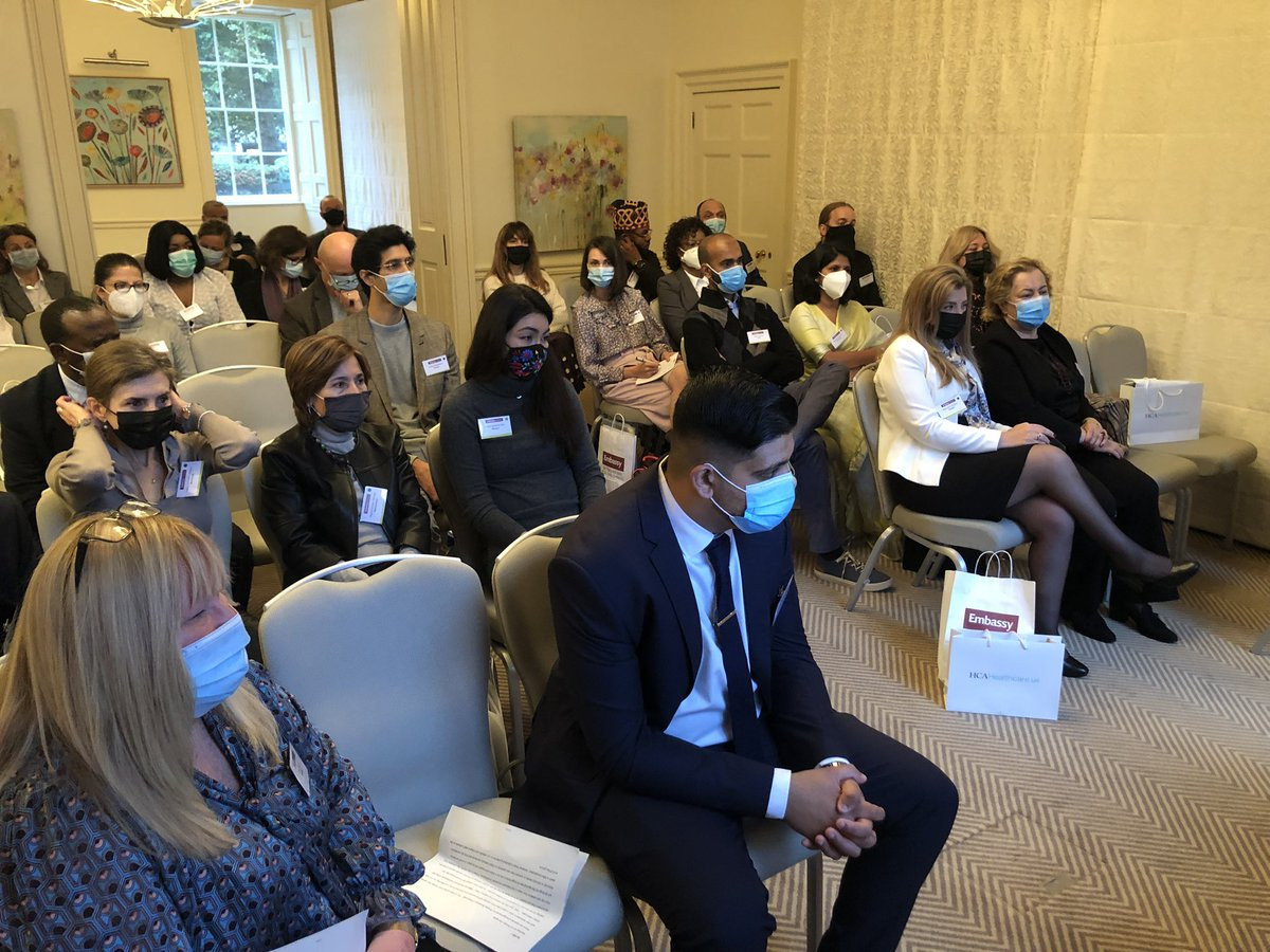 test Twitter Media - The Doyenne of the London Diplomatic Corps Delal Al Duwaisan and Swati Jha of the #DSCL extend a warm welcome to diplomatic spouses at #EmbassyInduction2021 @KUWAITEMBASSYUK https://t.co/aq3Y36RbHs