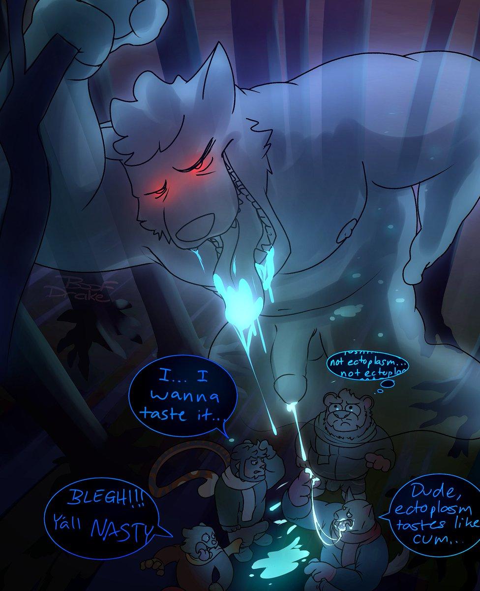 Kinktober: 7/31  Ghoul Drool Definitely-roommates stumbled across ectoplasm in the woods