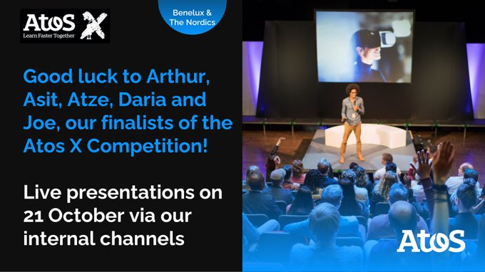 Atos X, is the annual TED-style speaking competition where colleagues share their digital...
