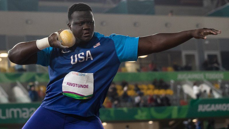 The 2021 season is the first in history in which four male athletes from the same country throw over 22.00m in the shot put (🇺🇸) Ryan Crosuer 🇺🇸 (23.37m) Joe Kovacs 🇺🇸 (22.72m) Darrell Hill 🇺🇸 (22.34m) Josh Awotunde 🇺🇸 (22.00m) 🤯🤯🤯