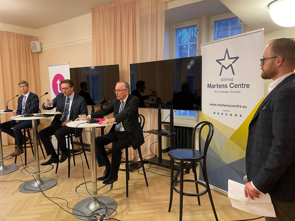 Very pleased to launch the @MartensCentre's joint publication with @ajatuspajatoivo on #Finland, Europe and the Western #security community, offering analyses & recommendation from @HennaVirkkunen, @NiklasNovaky, @HenriVanhanen, @RusiAlpo, @LuovaOuti📖👉https://t.co/qjAUF3fH8K https://t.co/ej3kR4jDFz