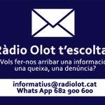 Image for the Tweet beginning: 🗣 Ràdio Olot t'escolta!  👉 informatius@radiolot.cat 📱