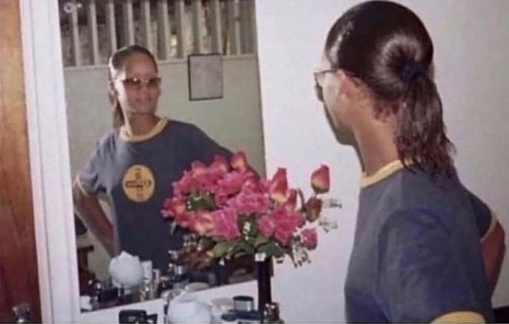 Me coming home to check if i was ugly in the streets or not