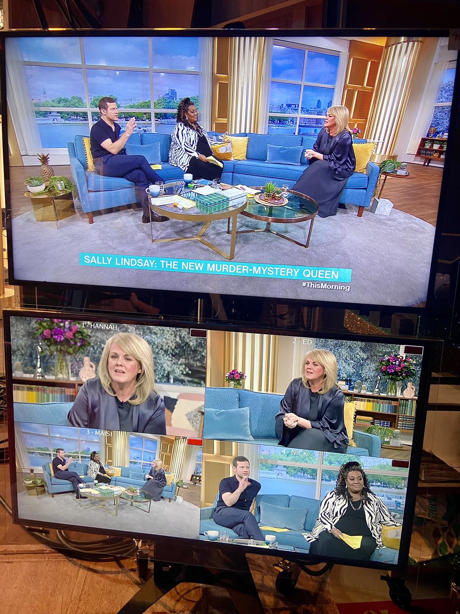 """""""I'm obsessed with murder mystery and this is basically everything I love on the telly - queen of drama series @sally_lindsay joins us on @thismorning to reveal all about her latest project, The Madame Blanc Mysteries, on @channel5_tv ❤️📺"""