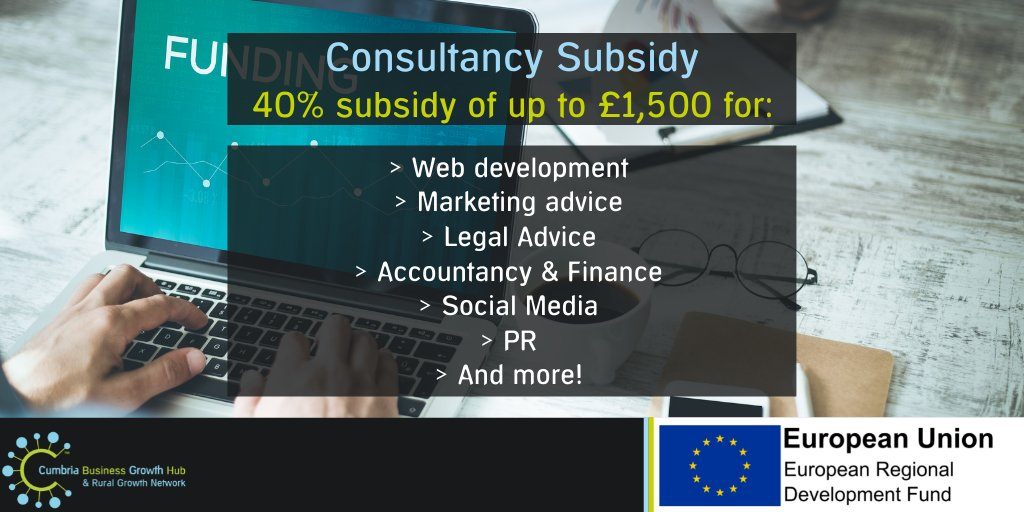 test Twitter Media - If you work mainly with other businesses or are looking to grow your B2B side, you could be eligible for a 40% subsidy of up to £1,500.   Get in touch at info@cumbriagrowthhub.co.uk or find out more here: https://t.co/jtmVSn4FNP https://t.co/piM8utPQas