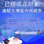 Image for the Tweet beginning: 香港7間大學已經或正計劃進駐大灣區內地城市