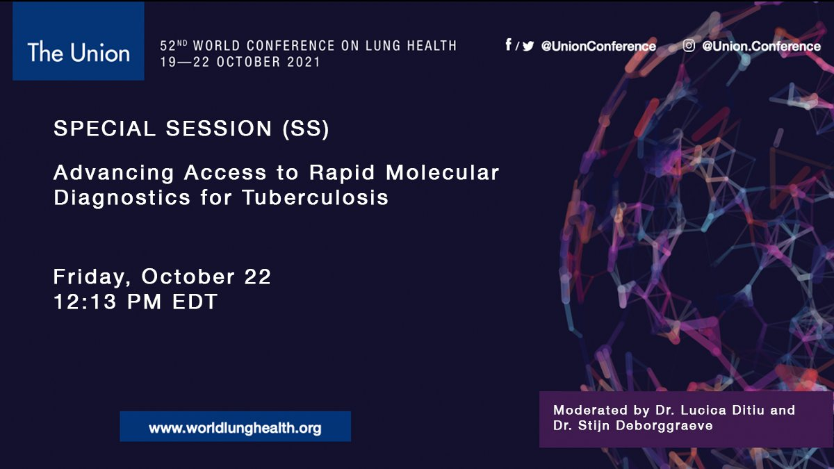 TAG + @MSF_access will convene a satellite session at #UnionConf on advancing access to rapid molecular diagnostics for #TB, including lessons learned from GeneXpert, scaling up Truenat, accountability for fair pricing, & how to improve access. More info: …icprogramme-union2021.web.indrina.com/satellite_symp…