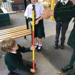 Image for the Tweet beginning: #SJV2M #science testing how bouncy