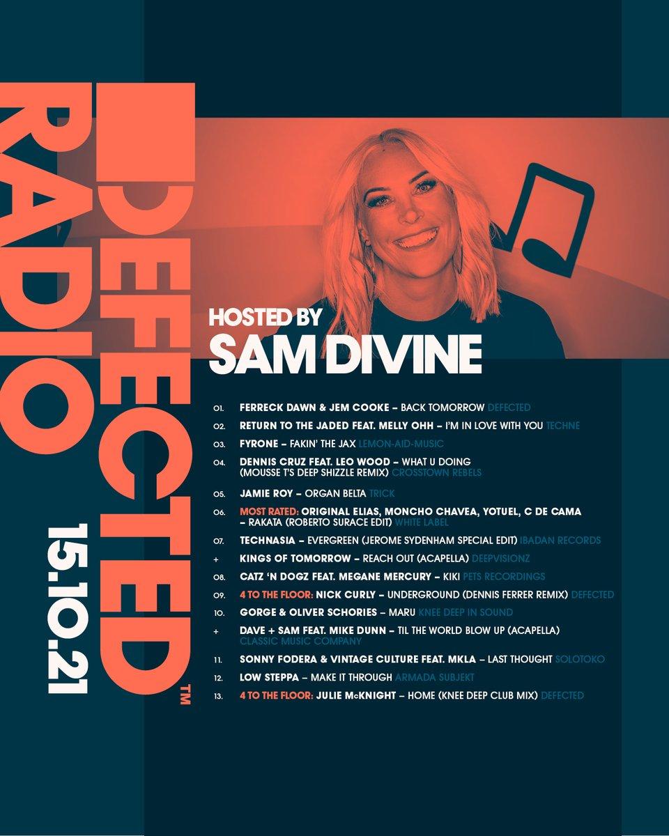 BELTA BELTA BELTA 🔥🔥🔥 @samdivine is back with this week's Radio Show, with music from @jamieroyuk, @djrobertosurace, @its_jmcknight, @sonnyfodera x @VintageCulture, @Catz_n_Dogz x Megane Mercury & more... DefectedRadio.lnk.to/Shows