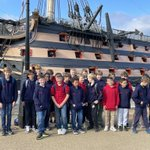 Chapel Choir @thenewbeacon on tour. First stop @MaryRoseMuseum and 'Ahoy!' reprise thanks to @ForbesLEstrange music. Brilliant guides @MaryRoseLearn