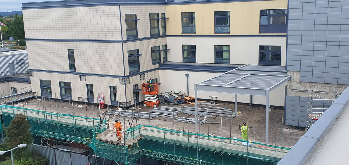 It's been an exciting week for the Capital Development Project Team at Royal Derby Hospital! 🏥 The first of the steelworks for the new Hybrid Theatre have been put in place. We'll provide regular updates on the construction of the theatre, so stay tuned! 🏗️