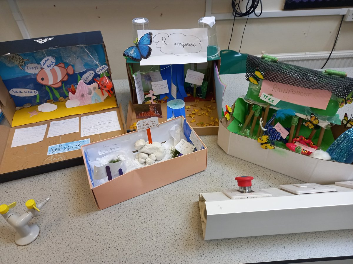 Oh wow Year 5! These are simply amazing!  #Science #Habitat #STEM #STEMeducation #Science #Henley #Reading #Goring #Woodcote #Oxfordshire