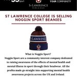 We are selling charity beanies in partnership with @nogginsport1, a company dedicated to raising awareness of mental health in sport.  Hats are £12 and can be collected from the School Shop!  Order yours here ➡️ sjc@slcuk.com