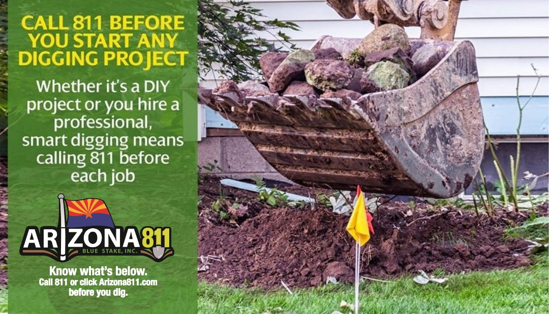 Homeowners and professional excavators will always need a simple reminder to contact 811 before…