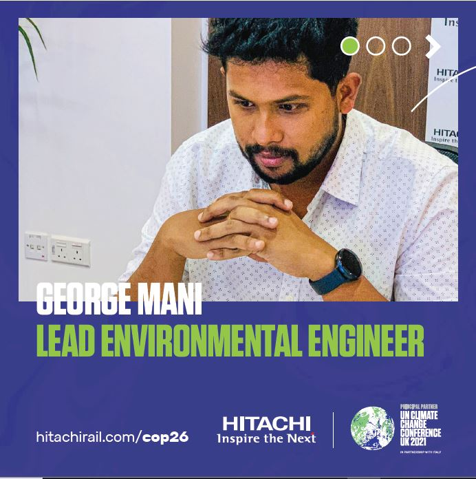 Meet George Mani our Environmental #Engineer, learn more about his career journey and how he is promoting environmental awareness on the exciting project he is working on.   ➡️ https://t.co/Cwb8UkiP2v  #COP26 #roadtocop26 #teamhitachi #engineeringcareers https://t.co/bygKRFEfQw