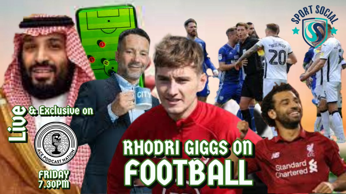 7.30pm Live Tonight #RhodriGiggsOnFootball Si & Ex #Salford winger @rodjamesgiggs will bw previewing the #SWDerby among many other things including looking at #NUFC transfer targets, international break #EPL #EFL & more of #Football biggest stories of week Get involved 730pm