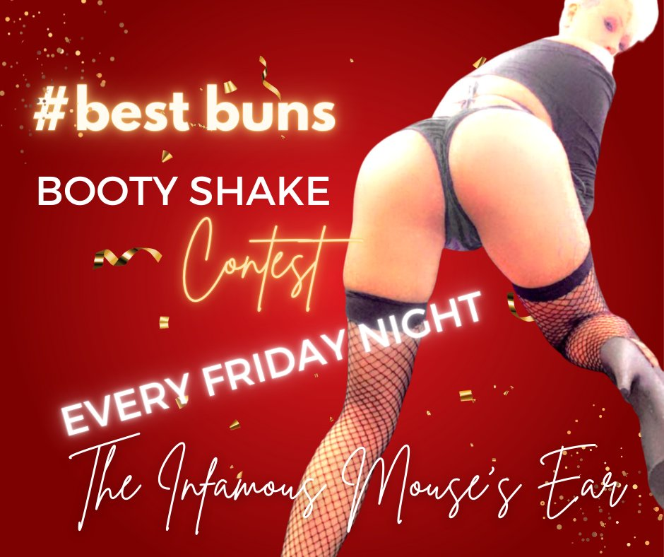 BEST BUNS CONTEST TONIGHT! Come on out and cheer for the Mightiest Mouse. We are BYOB and our ladies know how to party! Try to keep up if you can! . . . #bestbuns #booty #bestbooty #sexy #funfriday #thingstodo #datass #BootyContest #Twerk #MousesEar #JohnsonCity