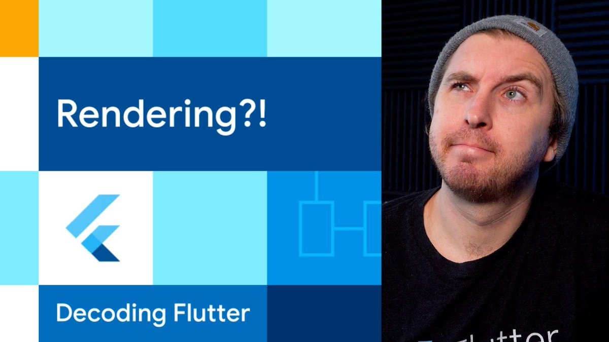 🔷 Rendering?! 🔷 Want to learn how Flutter turns widgets into screen real estate? See the way Flutter calulates sizes, composites layers, and paints pixels in the latest #DecodingFlutter. Grab your popcorn 🍿 → goo.gle/3DKoftn