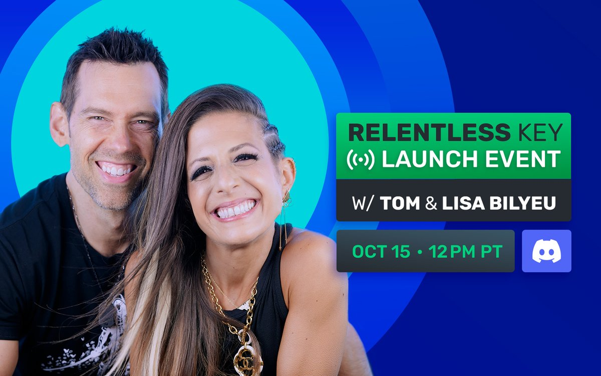 You know what to do ➡️ ImpactTheory.com/Discord Join @lisabilyeu and I as we celebrate the launch of the Relentless 🔑 and make a special announcement for all the current Founders Key holders 👀 Grab your 🔑 now founderskey.io 🍉