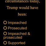 Image for the Tweet beginning: How would Trump have been