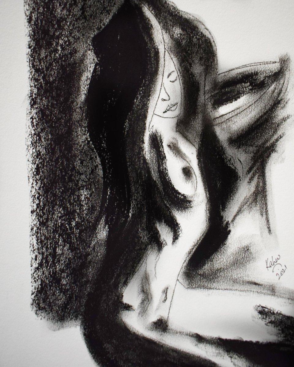 Suz  A3 2021   #charcoal #draw #art #artwork #artistontwittter #sketch_daily #sketchtober #sketchbook #sketch #sketching #figurativeart #weekend #thoughts