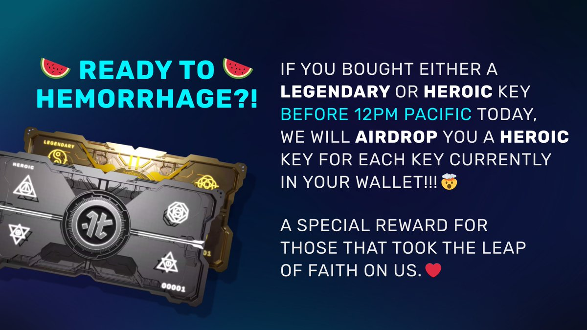 If you missed my Discord event, here is the big announcement. Thank you to all for taking the leap of faith. Much more to come!  Get your 🔑 founderskey.io