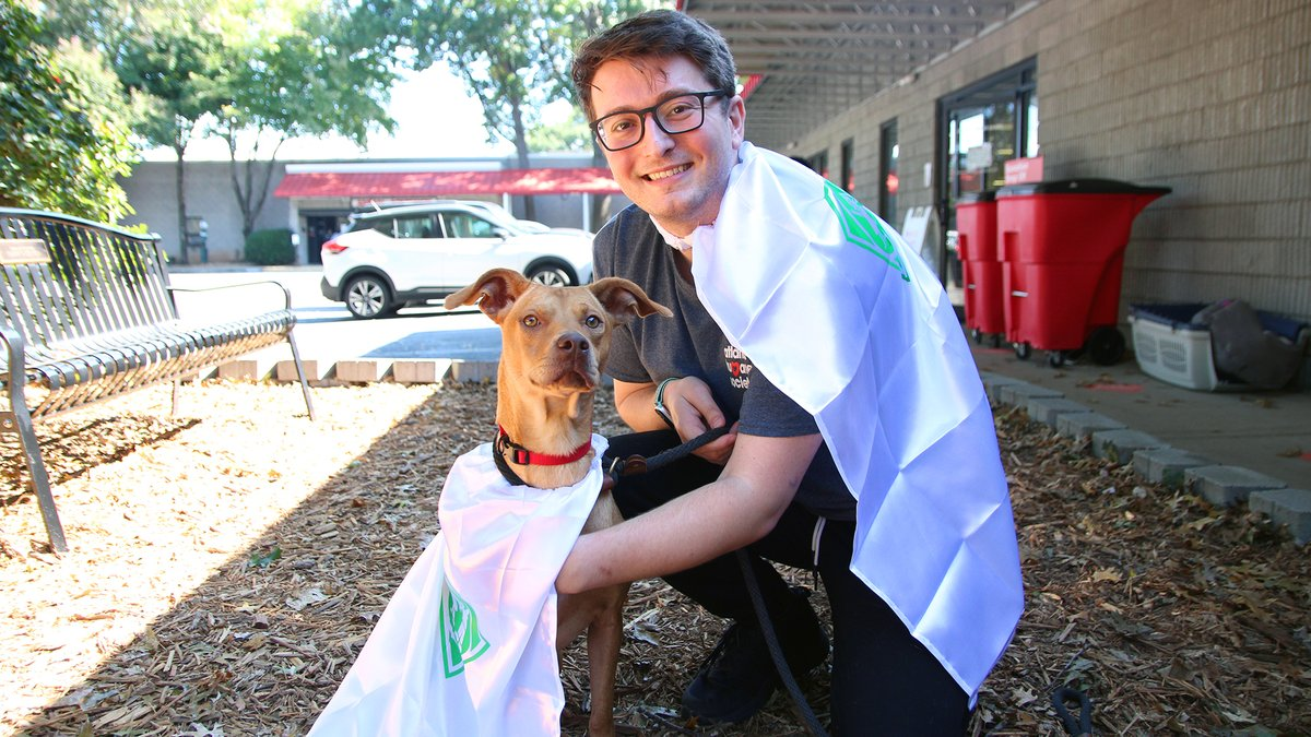 Capes aren't just for two-legged friends. @atlantahumane is having a pawsome #CapeDayATL!