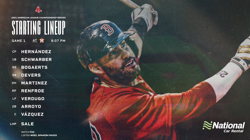 [LIVE] (MLB) BOS @ HOU 2021美聯冠軍系列戰 G1