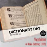 Image for the Tweet beginning: In celebration of Dictionary Day,