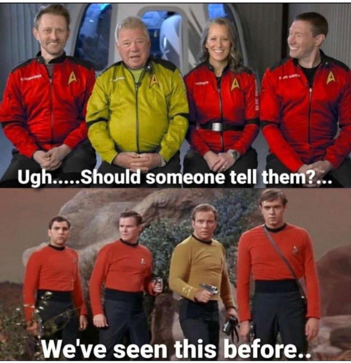 @MickLoze Not a GIF but… #WilliamShatner #spaceforce #RedShirt #CaptainKirk #StarTrek #FollowFriday