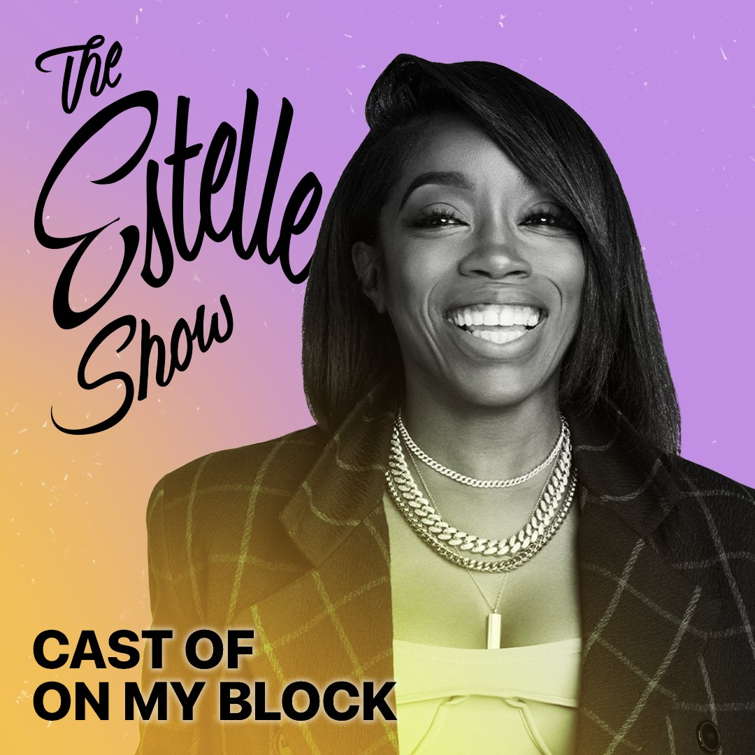 The cast of @OnMyBlock joined @EstelleDarlings to celebrate Latin Heritage Month. Music from @ATCQ, @DeJLoaf, @MarcAnthony and more. Run it back: apple.co/TheEstelleShow