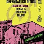 Image for the Tweet beginning: Gure Etxeak Defendatuko Ditugu! | Hablamos