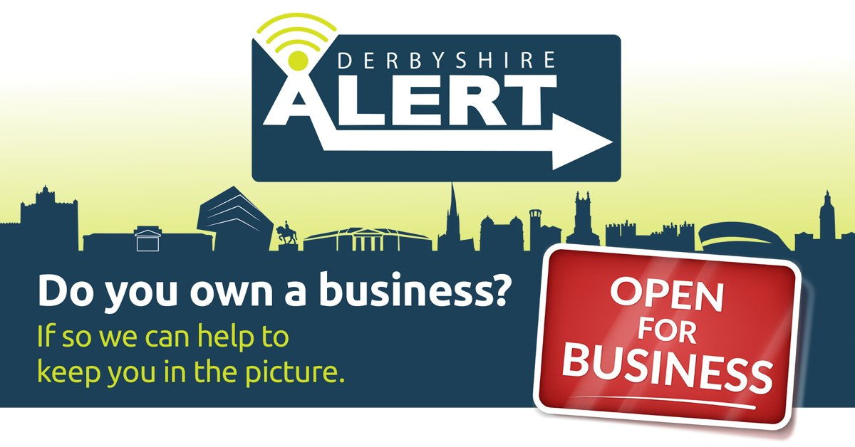 Derbyshire Alert Business provides information on crimes or incidents occurring around your area, equips you with key crime prevention advice and allows you to share alerts with colleagues. Register at derbyshirealert.co.uk and sign up via the 'Business registration' section.