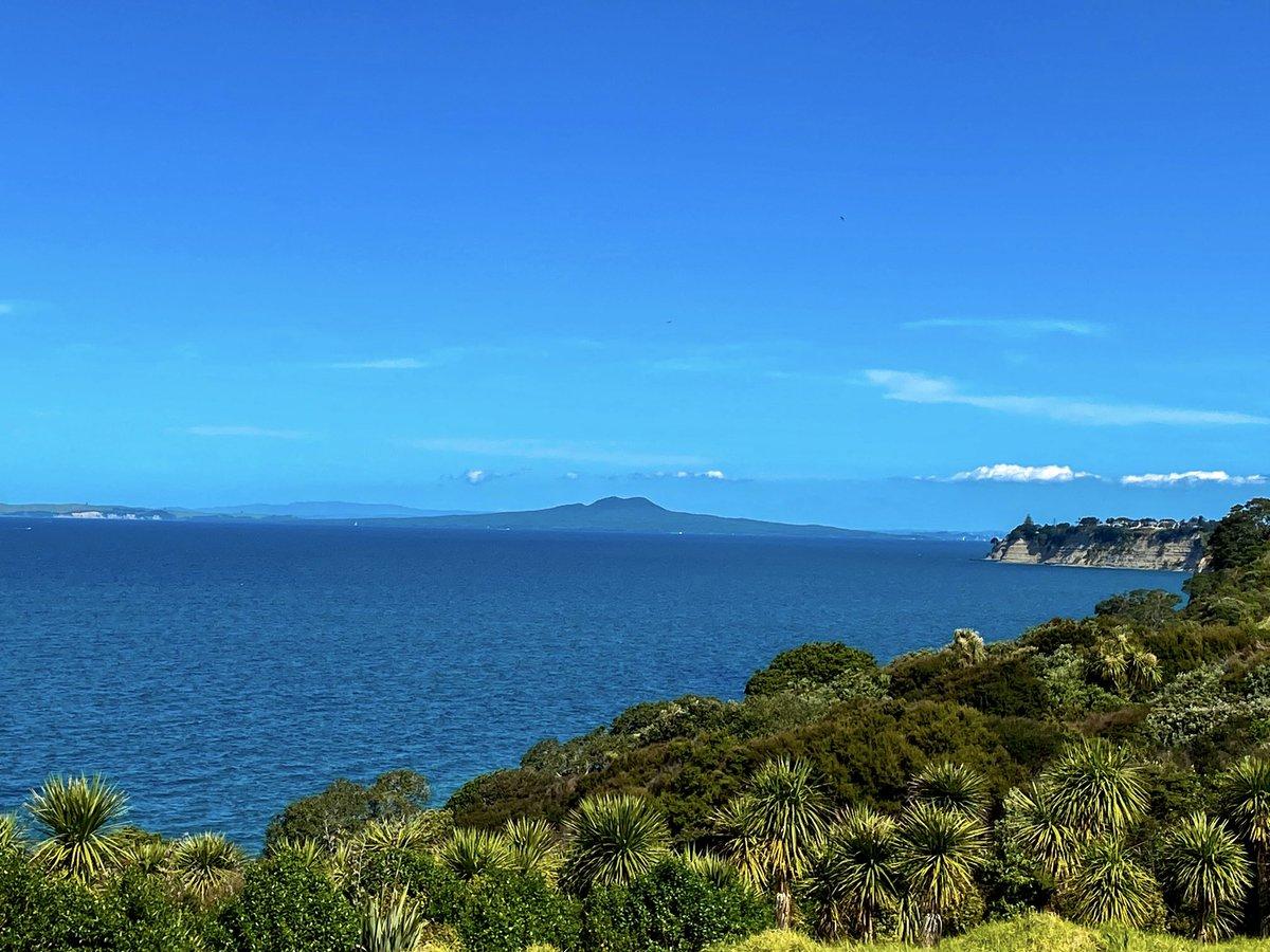 Rangitoto from Long Bay coast walk