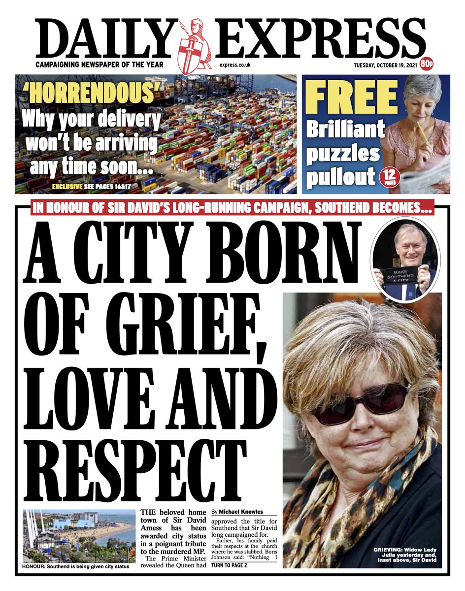 Tomorrow's front page: A city born of grief love and respect #tomorrowspaperstoday