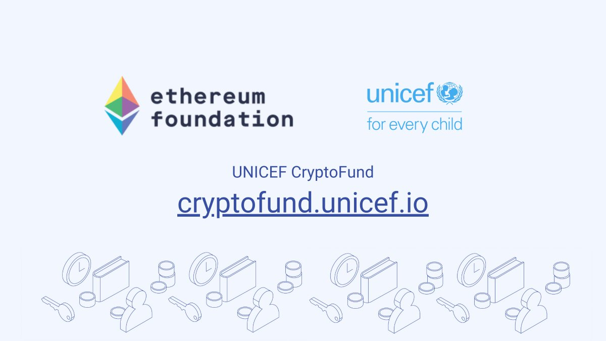 @UNICEF's CryptoFund has our ongoing support as (1) a great example of how public sectors benefit from efficiency and transparency, and (2) for their support of projects in developing countries that provide blockchain use cases that others can learn from. Looking forward to more! https://t.co/E28uHyPmbS