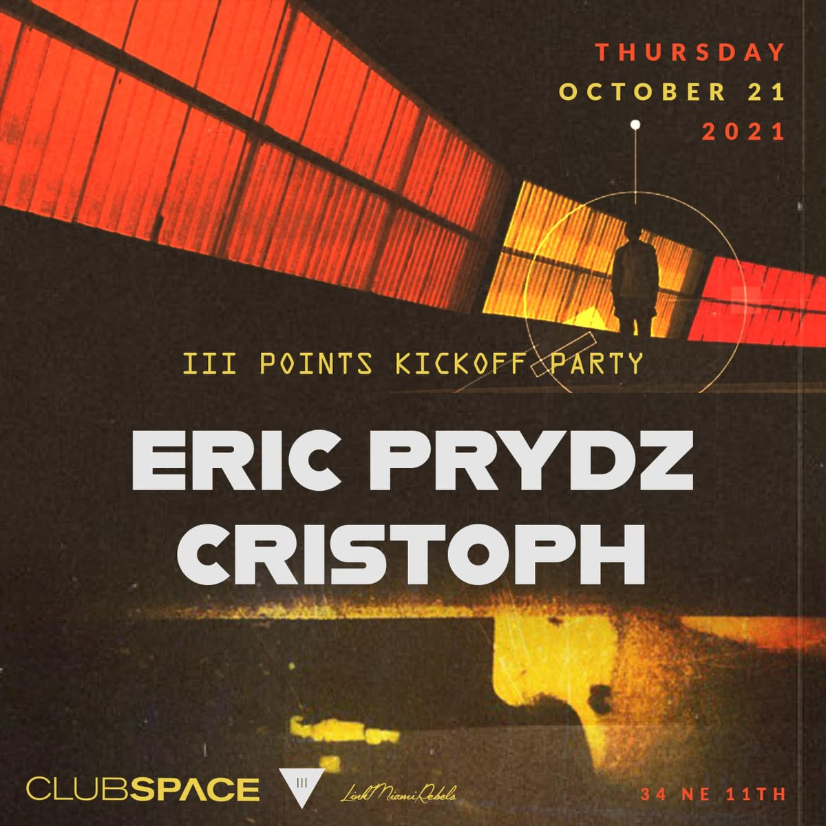 Just a few days to go until myself and @ericprydz take over The Terrace at @clubspacemiami for the @iiiPoints kickoff party 🙌 Tickets available here - eventbrite.com/e/eric-prydz-c…