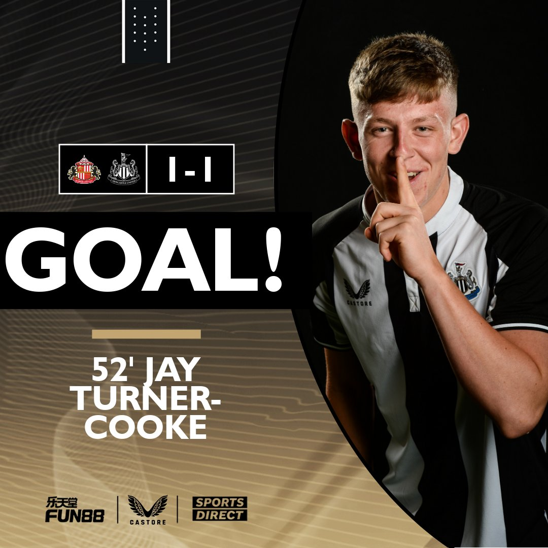 The young Magpies equalise as Joe White's strike from the edge of the box takes a deflection off Turner-Cooke before flying into the net! GET IN! 🙌⚫️⚪️