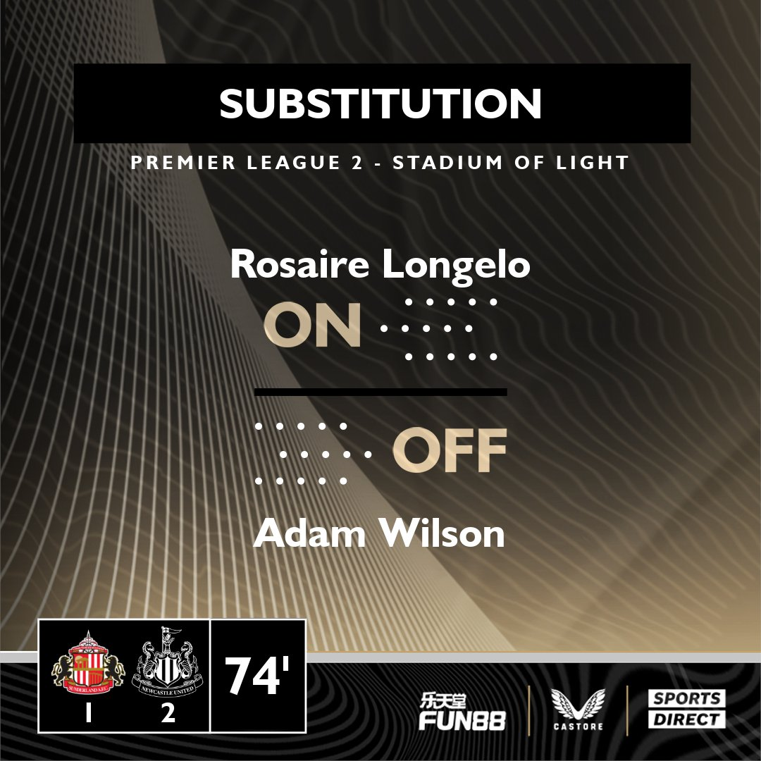 🔁 Our first substitution of the evening. Well played, Adam! #NUFC // #PL2