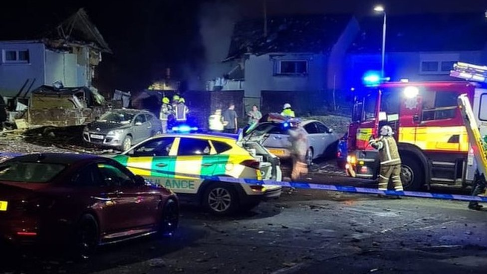 Emergency crews called to explosion in Ayr housing estate bbc.in/3aMneo6