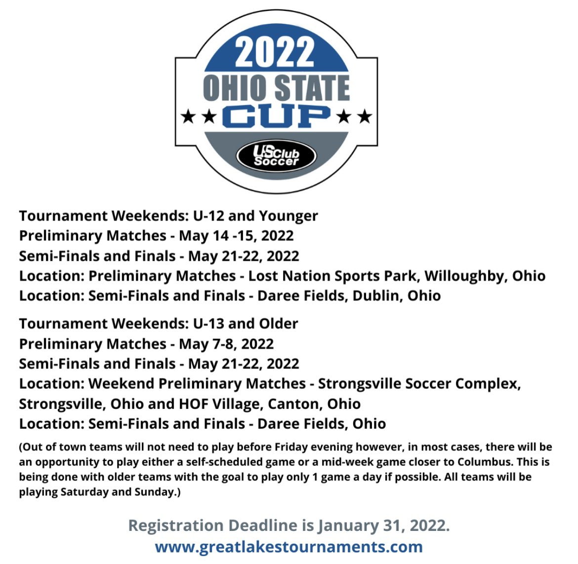 Registration is now open for the 2022 Ohio State Cup!  Register by January 31, 2022 at https://t.co/J0r7mIE0py